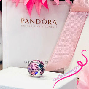 NWT PANDORA Pink Radiant Droplet Charm; RETIRED